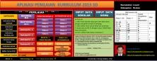 tampilan halaman home pada aplikasi penilaian kurikulum 2013 SD